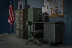 police station standing set in la
